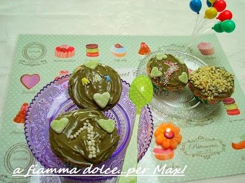 muffin mandorle e pistacchio