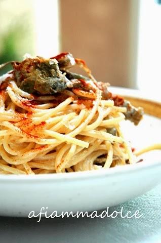 spaghetti e carciofi