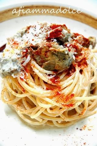 spaghetti ai carciofi