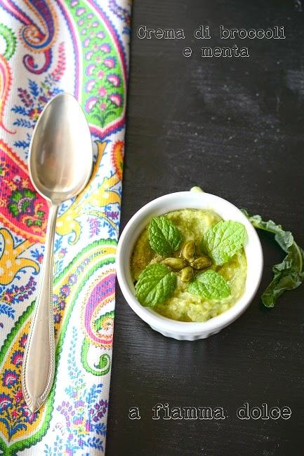 crema di broccoli alla menta