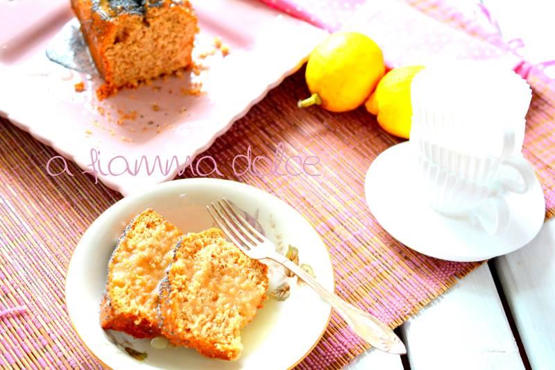 Plumcake al limone e semi di papavero vegan