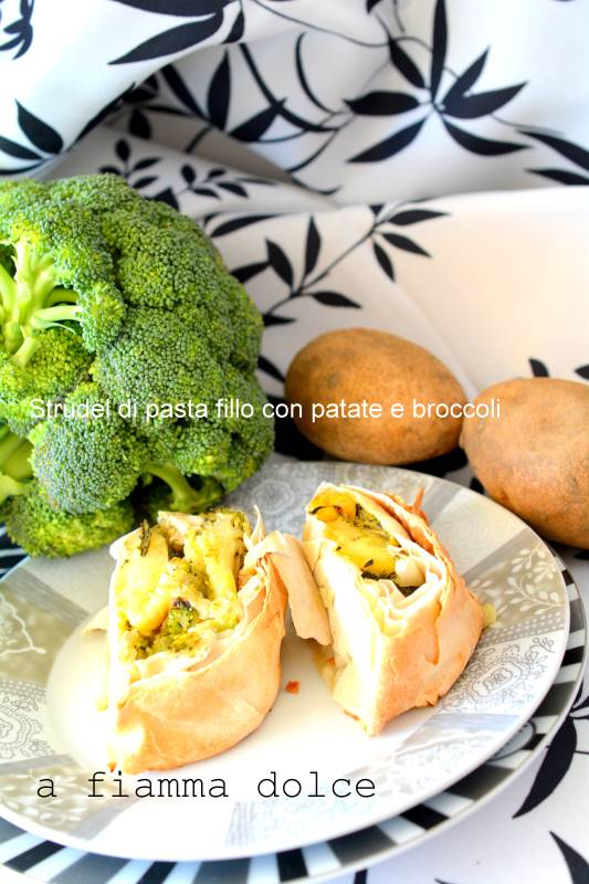 strudel patate e broccoli