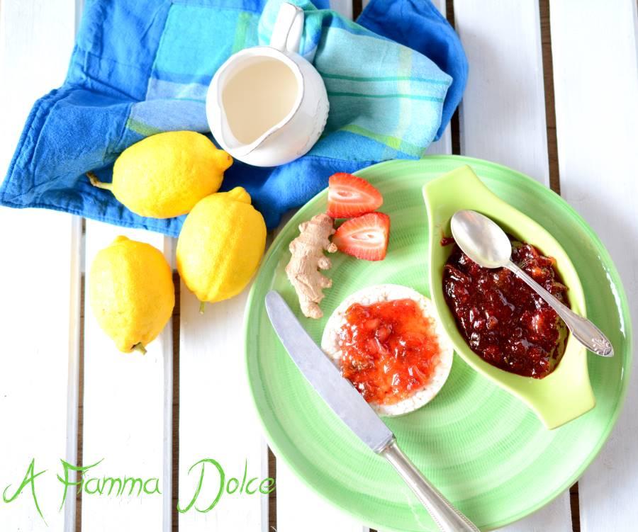 marmellata di limoni, fragole e zenzero