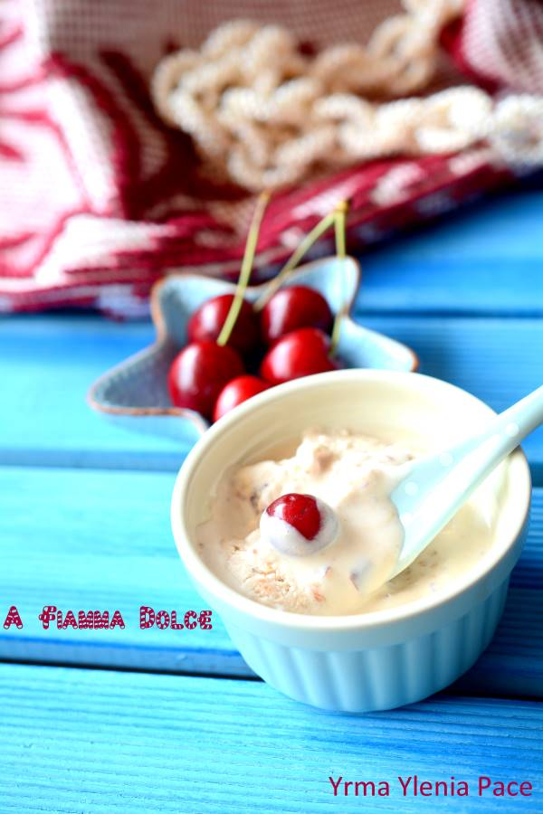 gelato alle ciliegie light