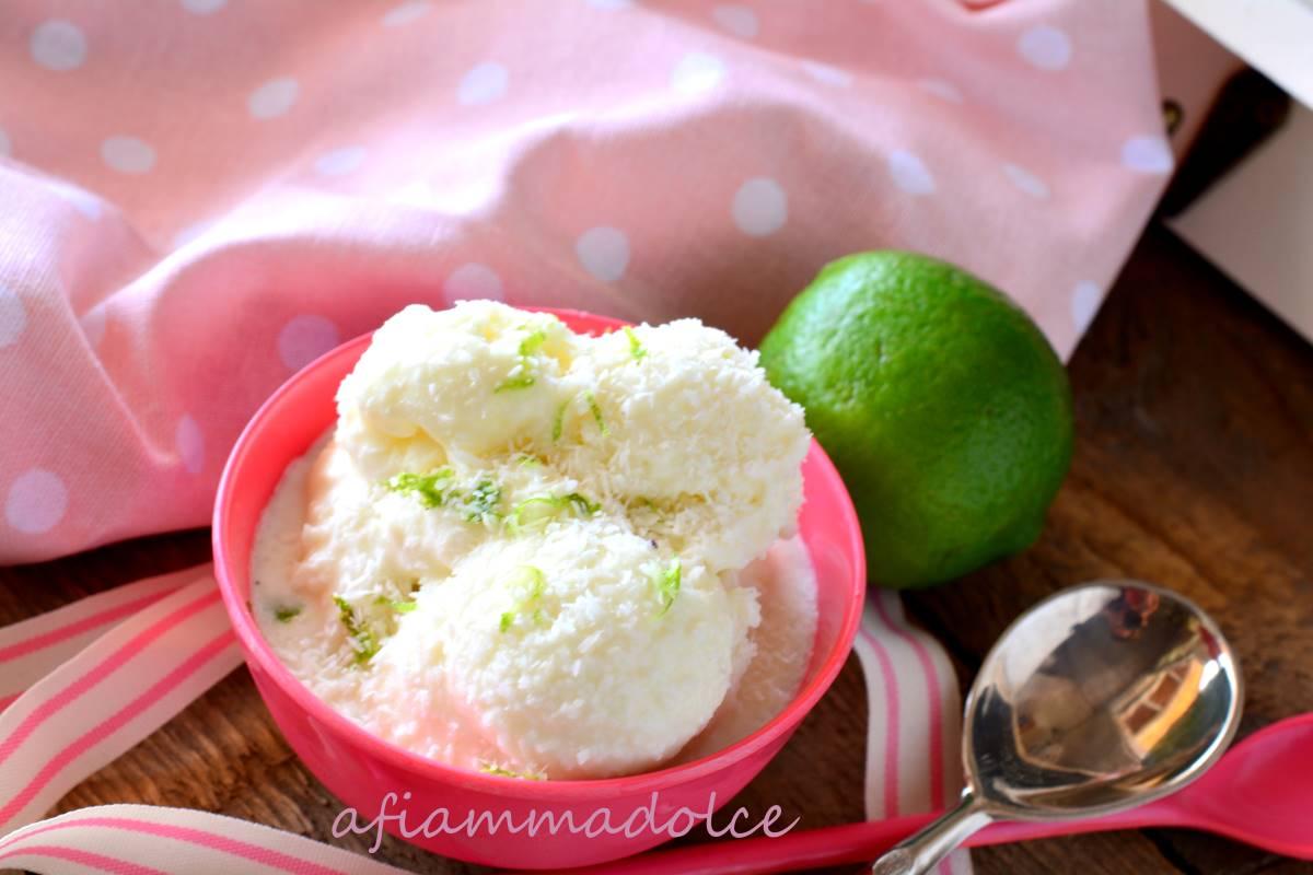 gelato cocco e lime