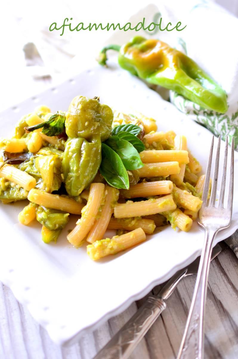 pasta alla crema di peperoncini verdi