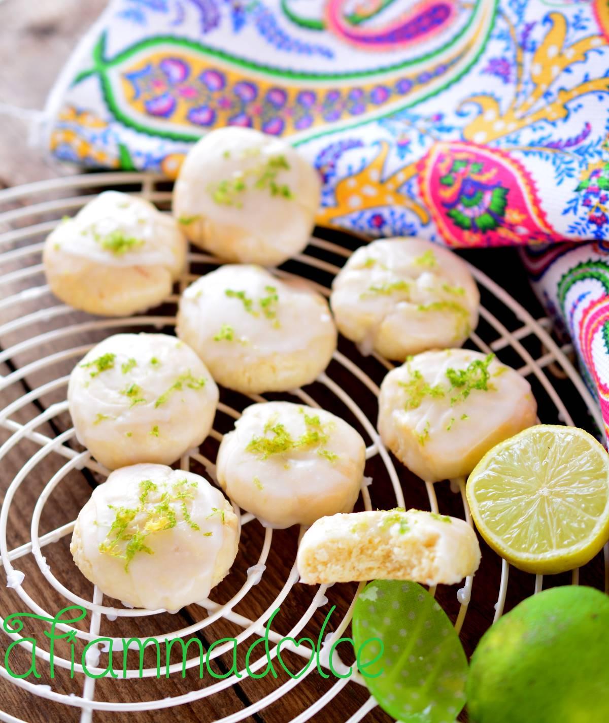 biscotti al lime vegan