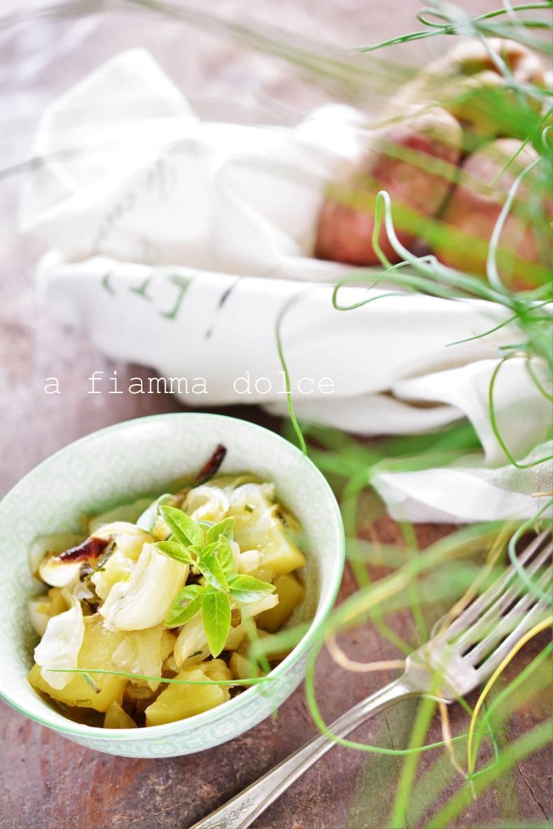 patate e finocchi con erbette fresche