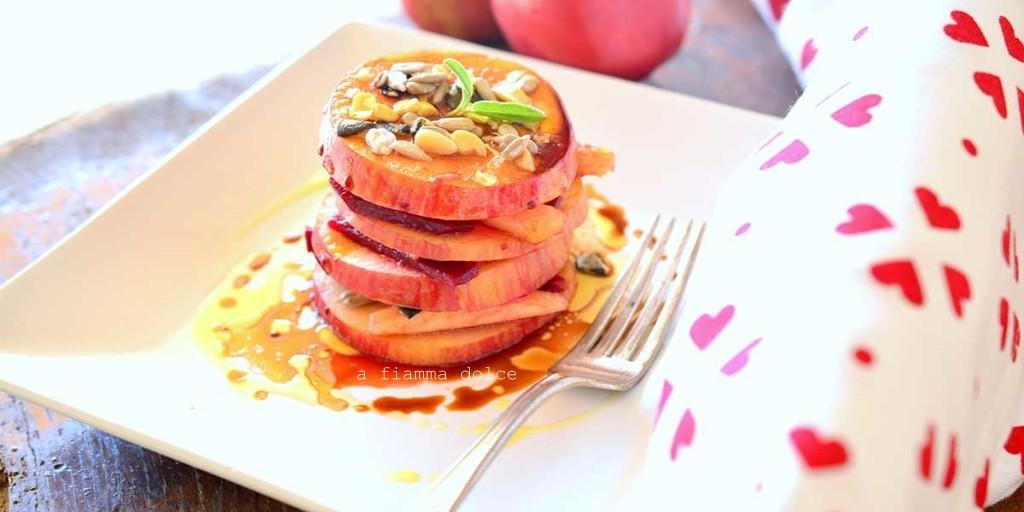 insalata mela e rapa rossa