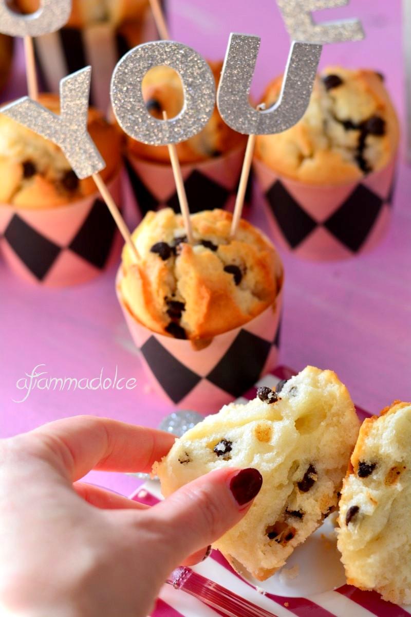muffin pere e cioccolato vegan