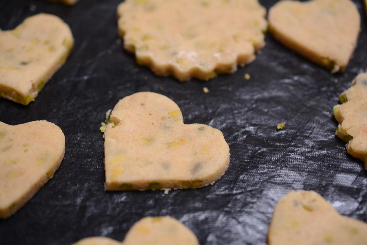 biscotti salati vegan ai pistacchi